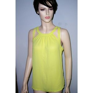 Small Express Neon Green sleeveless  blouse